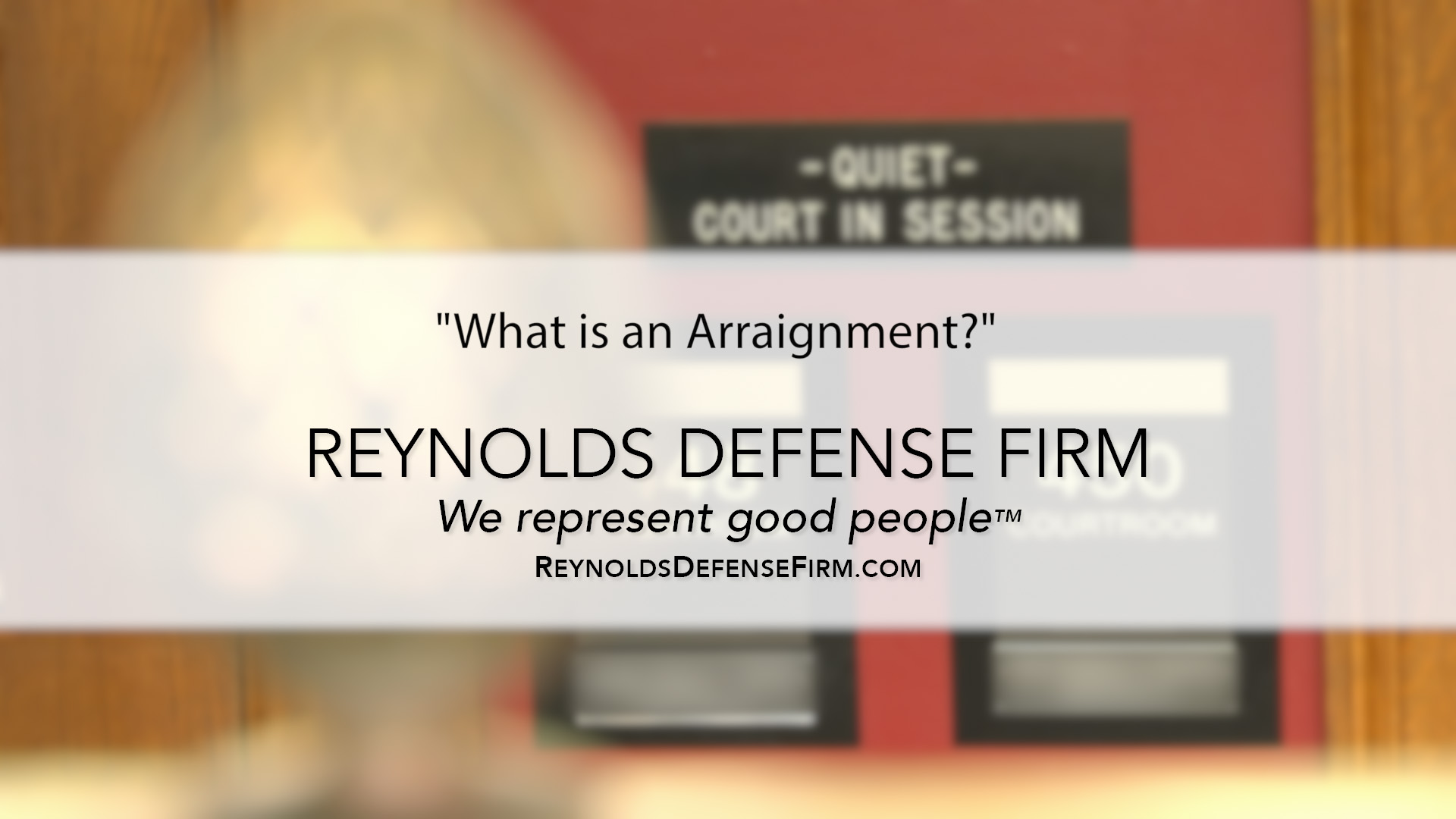What is an Arraignment?