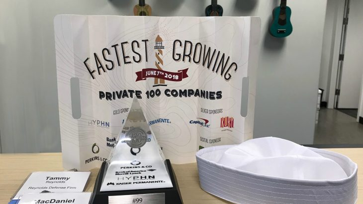 reynolds defense firm top 100 fastest growing privately owned company PBJ 2018