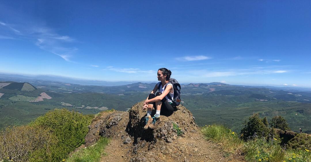sarah hiking saddle mountain oregon opt outdoors