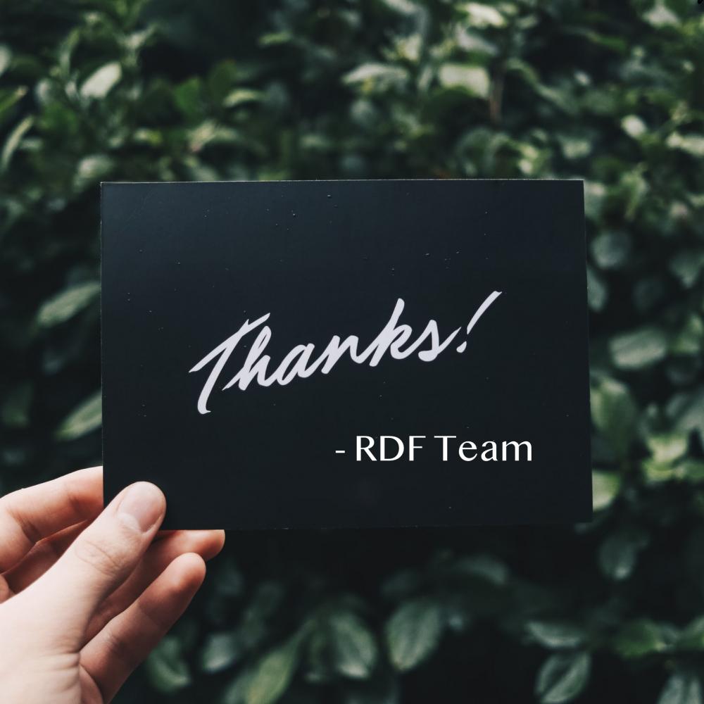 Quarterly Award Roundup for RDF!